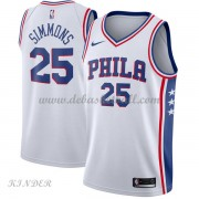 Basketball Trikot Kinder Philadelphia 76ers 2018 Ben Simmons 25# Home Swingman..