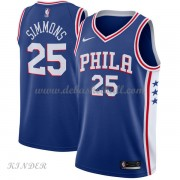 Basketball Trikot Kinder Philadelphia 76ers 2018 Ben Simmons 25# Road Swingman..
