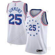 Basketball Trikot Kinder Philadelphia 76ers 2019-20 Ben Simmons 25# Weiß Earned Edition Swingman..