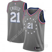 Basketball Trikot Kinder Philadelphia 76ers 2019-20 Joel Embiid 21# Grau City Edition Swingman..