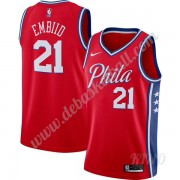 Basketball Trikot Kinder Philadelphia 76ers 2019-20 Joel Embiid 21# Rot Finished Statement Edition Swingman