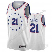 Basketball Trikot Kinder Philadelphia 76ers 2019-20 Joel Embiid 21# Grau Earned Edition Swingman..