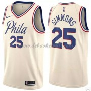 Philadelphia 76ers Basketball Trikots 2018 Ben Simmons 25# City Swingman..