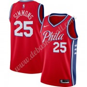 Philadelphia 76ers Basketball Trikots NBA 2019-20 Ben Simmons 25# Rot Finished Statement Edition Swi..