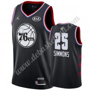 Philadelphia 76ers Basketball Trikots 2019 Ben Simmons 25# Schwarz All Star Game Swingman..