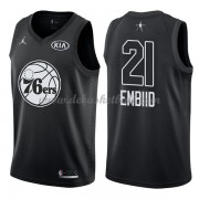 Philadelphia 76ers Basketball Trikots Joel Embiid 21# Black 2018 All Star Game Swingman..