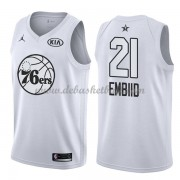 Philadelphia 76ers Basketball Trikots Joel Embiid 21# White 2018 All Star Game Swingman..