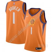 Basketball Trikot Kinder Phoenix Suns 2019-20 Devin Booker 1# Orange Finished Statement Edition Swin..