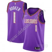 Basketball Trikot Kinder Phoenix Suns 2019-20 Devin Booker 1# Lila City Edition Swingman..