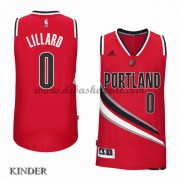 Basketball Trikot Kinder Portland Trail Blazers 2015-16 Damian Lillard 0# Alternate Swingman..