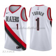 Basketball Trikot Kinder Portland Trail Blazers 2018 Evan Turner 1# Home Swingman..