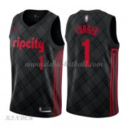 Basketball Trikot Kinder Portland Trail Blazers 2018 Evan Turner 1# City Swingman..