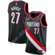 Basketball Trikot Kinder Portland Trail Blazers 2019-20 Jusuf Nurkic 27# Schwarz Icon Edition Swingm..