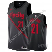 Basketball Trikot Kinder Portland Trail Blazers 2019-20 Hassan Whiteside 21# Schwarz City Edition Sw..