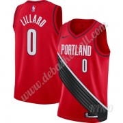 Basketball Trikot Kinder Portland Trail Blazers 2019-20 Damian Lillard 0# Rot Finished Statement Edi..