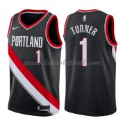 Portland Trail Blazers Basketball Trikots 2018 Evan Turner 1# Road Trikot Swingman..