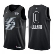 Portland Trail Blazers Basketball Trikots Damian Lillard 0# Black 2018 All Star Game Swingman..