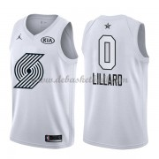 Portland Trail Blazers Basketball Trikots Damian Lillard 0# White 2018 All Star Game Swingman..