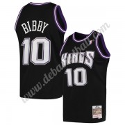 Sacramento Kings Basketball Trikots NBA 2001-02 Mike Bibby 10# Schwarz Hardwood Classics Swingman..