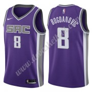 Sacramento Kings Basketball Trikots NBA 2019-20 Bogdan Bogdanovic 8# Lila Icon Edition Swingman..