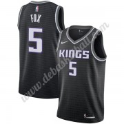 Sacramento Kings Basketball Trikots NBA 2019-20 De'Aaron Fox 5# Schwarz Statement Edition Swingman..