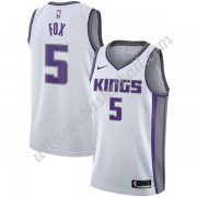 Sacramento Kings Basketball Trikots NBA 2019-20 De'Aaron Fox 5# Weiß Association Edition Swingman..