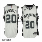 Basketball Trikot Kinder San Antonio Spurs 2015-16 Manu Ginobili 20# Home Swingman..