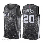 Basketball Trikot Kinder San Antonio Spurs 2018 Manu Ginobili 20# City Swingman..