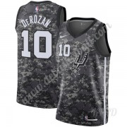 Basketball Trikot Kinder San Antonio Spurs 2019-20 DeMar DeRozan 10# Schwarz City Edition Swingman..
