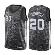 San Antonio Spurs Basketball Trikots 2018 Manu Ginobili 20# City Swingman..