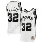 San Antonio Spurs Basketball Trikots NBA 1998-99 Sean Elliott 32# Weiß Hardwood Classics Swingman..
