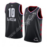 San Antonio Spurs Basketball Trikots 2019 Demar Derozan 10# Schwarz All Star Game Swingman..
