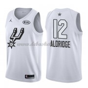 San Antonio Spurs Basketball Trikots LaMarcus Aldridge 12# White 2018 All Star Game Swingman..