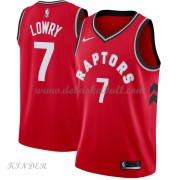 Basketball Trikot Kinder Toronto Raptors 2018 Kyle Lowry 7# Road Swingman..