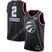 Toronto Raptors Basketball Trikots 2019 Kawhi Leonard 2# Schwarz All Star Game Swingman..