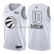 Toronto Raptors Basketball Trikots DeMar DeRozan 10# White 2018 All Star Game Swingman..