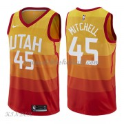 Basketball Trikot Kinder Utah Jazz 2018 Donovan Mitchell 45# City Swingman..