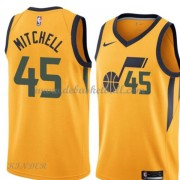 Basketball Trikot Kinder Utah Jazz 2018 Donovan Mitchell 45# Alternate Swingman..