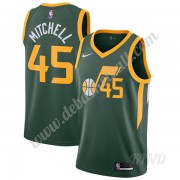 Basketball Trikot Kinder Utah Jazz 2019-20 Donovan Mitchell 45# Grün Earned Edition Swingman..