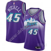 Basketball Trikot Kinder Utah Jazz 2019-20 Donovan Mitchell 45# Lila Finished Hardwood Classics Swin..