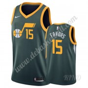 Basketball Trikot Kinder Utah Jazz 2019-20 Derrick Favors 15# Grün Earned Edition Swingman..