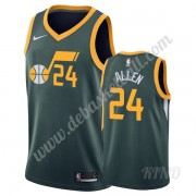 Basketball Trikot Kinder Utah Jazz 2019-20 Grauson Allen 24# Grün Earned Edition Swingman..