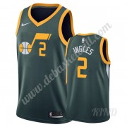 Basketball Trikot Kinder Utah Jazz 2019-20 Joe Ingles 2# Grün Earned Edition Swingman..