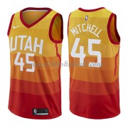 Utah Jazz Basketball Trikots 2018 Donovan Mitchell 45# City Swingman..