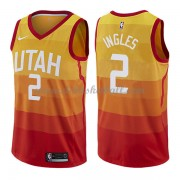Utah Jazz Basketball Trikots 2018 Joe Ingles 2# City Swingman..
