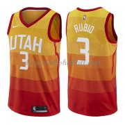 Utah Jazz Basketball Trikots 2018 Ricky Rubio 3# City Swingman..