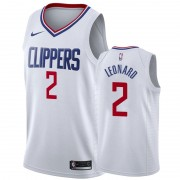 Basketball Trikot Kinder Los Angeles Clippers 2019-20 Kawhi Leonard 2# Weiß Association Edition Swin..