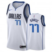 Basketball Trikot Kinder Dallas Mavericks 2019-20 Luka Doncic 77# Weiß Association Edition Swingman..