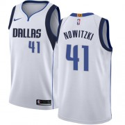 Dallas Mavericks Basketball Trikots 2018 Dirk Nowitzki 41# Home Trikot Swingman..