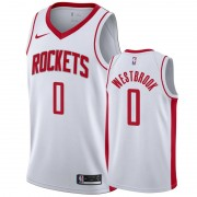 Houston Rockets Basketball Trikots NBA 2019-20 Russell Westbrook 0# Weiß Association Edition Swingma..